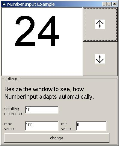 NumberInput ActiveX Screen shot